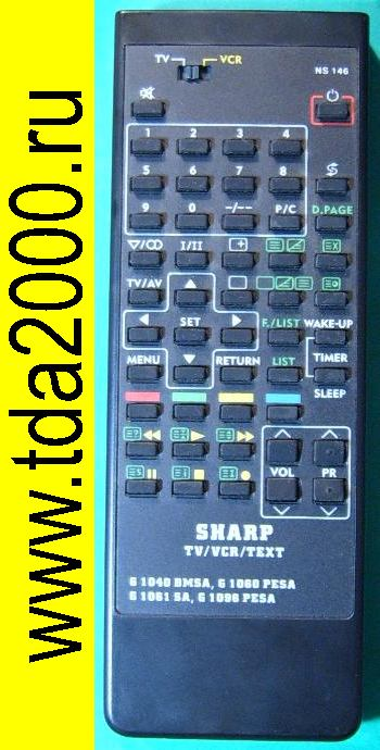 Пульты Пульт Sharp G1060=1096=1040 TV/VCR/TEXT