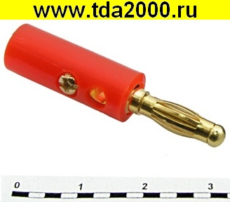 Разъём Банан Разъём Банан 10-0015 GOLD red вилка