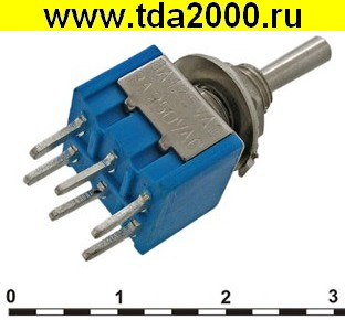 Тумблер Тумблер MTS-203-A2 on-off-on