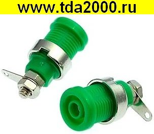 Разъём Банан Разъём Банан гнездо ZP016 4mm Panel-mount Socket,GREEN