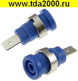 Разъём Банан Разъём Банан гнездо ZP017 4mm BLUE