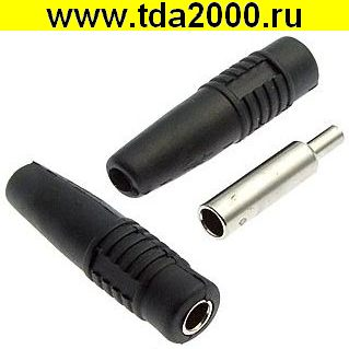 Разъём Банан Разъём Банан ZP-041 4mm Cable Socket BLACK