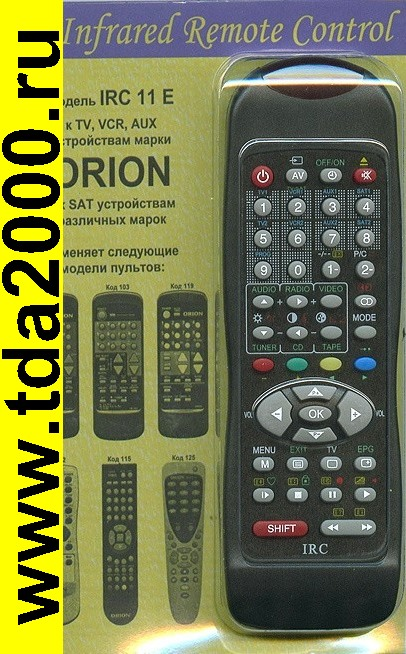 Пульты Пульт Irc-11e [ Orion TV/ VCR/ AUX]